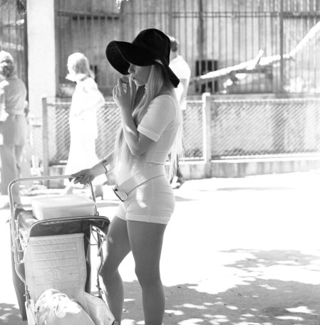White girl at the zoo 1970s